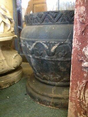 Old Antique Vintage Urns Flower Garden 1920's Egyptian  Concrete Pots 6