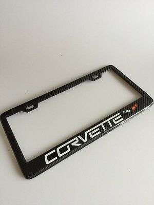 Handmade carbon fiber C7 C6 Z06 Z07 Corvette License Plate Frame C5 Z51 Stingray