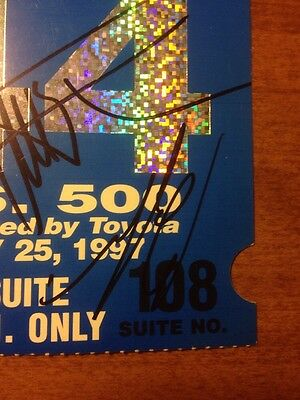 Greg Moore, Gil de Ferran, Bobby Rahal Signed 1997 Michigan Speedway Ticket Stub 3