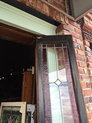 Sg 471 Antique Dual Jewel Transom Glass Window Beveled Center 9