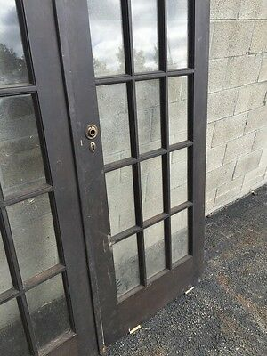 "Cm 18 One Pair Antique French Doors Pine 60"" X 79.5"" 5"