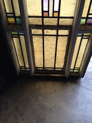 Number Three Youngstown's Finest Stained Glass Woodframe Antique Windows 5