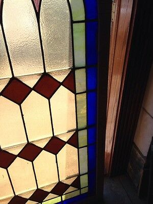 Antique Arch Top Stained Glass Window 33.25 X 63.25 High Sg 134