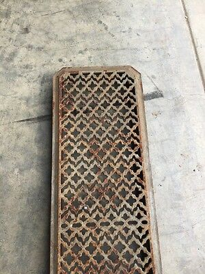 "Rt 6 Antique Cast-Iron Radiator Cover 29"" X 8.5"" 3"