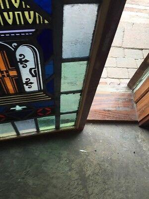 Sg 697 Antique Painted In Fired Open Door Alter Window 8