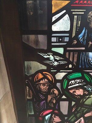Sg 624 Very Beautiful Antique Religious Figure Window 4 Figures 3