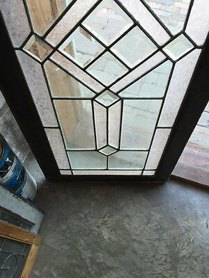 Sg 620 Antique Textured And Beveled Glass Transom Window 4