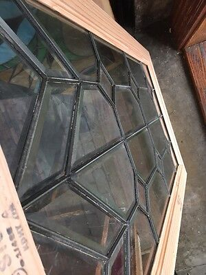 Sg 1096 Antique All Beveled Glass Window With Scratches 23.25 X 41.5""