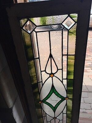 Sg 742 Antique Transom Window 4 Faceted Jewels 2