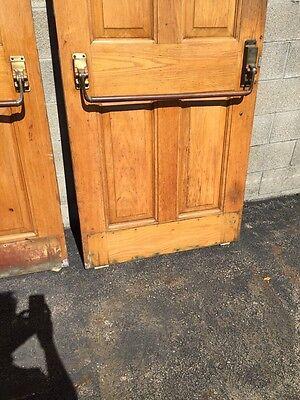 Cm 22 One Pair Antique Very Heavy Raise Panel Oak Entrance Doors 12