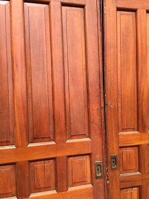 D2 26 One Pair Antique Cherry Pocket Doors 80 Inch Wide By 105 Hi 3