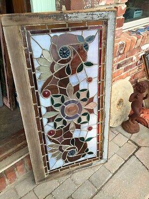 Sg 365 Amazing Pressed Jewel Turn-Of-The-Century Antique Stainglass Window 10