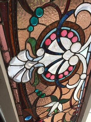 An #2 Amazing Antique Combo Window Victorian Stain Jeweled Beveled Keeper 4