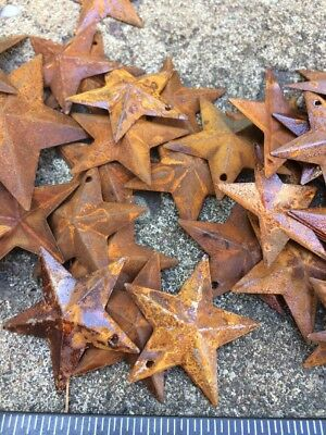 "Set 20  Rusty Stars 10- 2.25"" & 10- 1.5"" Country Metal Barn Star Craft Supplies 10"