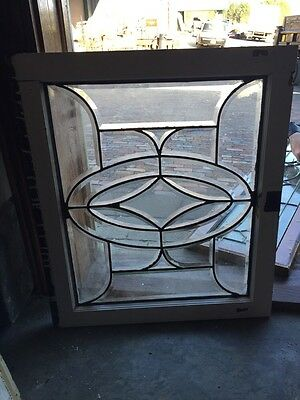 """Sg 798  3Available Price Separate Antique All Beveled Glass Window 25"""" X 28 1/2"""
