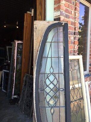 Sg 792 Antique Arch Beveled Glass Window 7