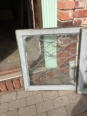 Sg 657 Antique Leaded Glass Window Two Available Priced Each 9
