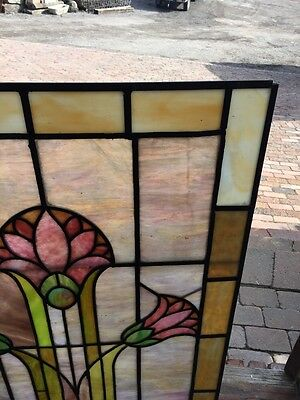Sg 465 Two Available Price Separately Antique Pastel Floral Landing Windows 3