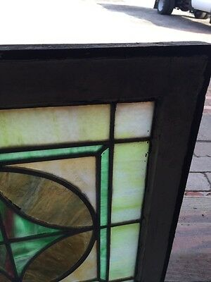 "Sg 593 Antique 20"" X 20"" Pastel Stainglass Window 4"