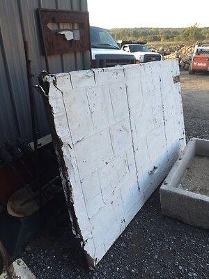 Antique Galvanized Overwood Fire Door 54 Inch Wide