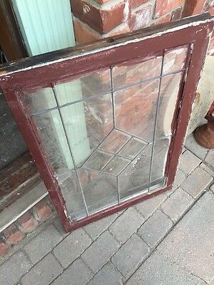 Sg 702 Antique Leaded Glass Window For Square Bevel Center 5