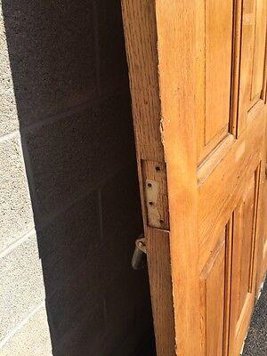 Cm 22 One Pair Antique Very Heavy Raise Panel Oak Entrance Doors 7