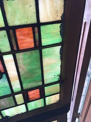 Sg 678 Two Available Priced Each Antique Stainglass Windows Tree 4
