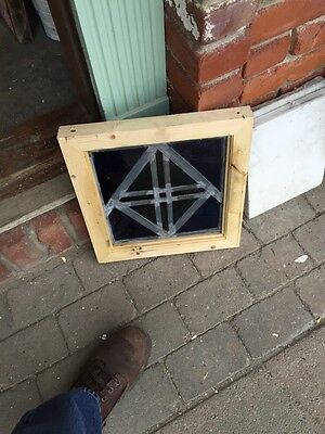 Sg 392 Antique Painted In Fired Crisscross Design Window 4