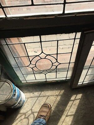 Sg 655 Three Available Price Each Antique Portable Windows Leaded Glass 4
