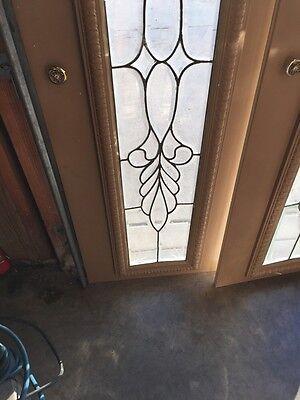 Bg 199 One Pair Antique Beveled Glass Sidelights Or Transom Windows 4