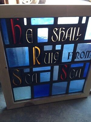 Sg 145 Antique Painted And Fired He Shall Rule From Sea To Sea Window 2