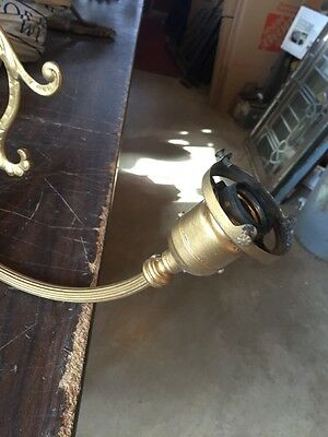 Lt 18 Single Brass 2 Arm Early Electric Sconce 5