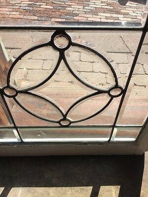 Sg 730 Antique Beveled Glass Window With 4 Jewels 4