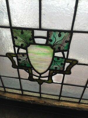 Sg 491 Matched Pair Painted In Fired Textured Glass With Leaves 5