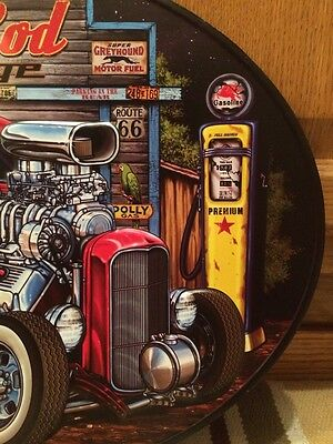 Hot Rod Garage Metal Decor Gas Pump Coupe Rat Rod Oil Bar Industrial Ford Chevy 2