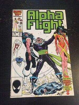 Alpha Flight#37 Incredible Condition 9.4(1986) David Ross Art!! 10