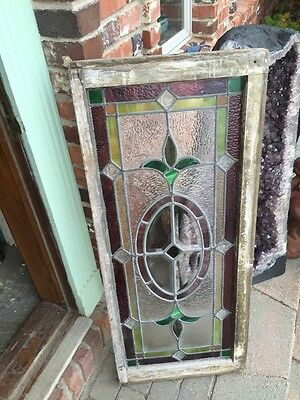 Sg 874 Antique Transom Window With Neat Pressed Jewels Colorful