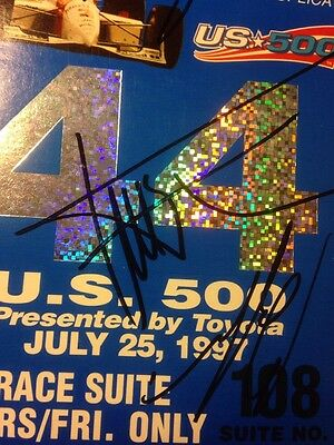 Greg Moore, Gil de Ferran, Bobby Rahal Signed 1997 Michigan Speedway Ticket Stub 4