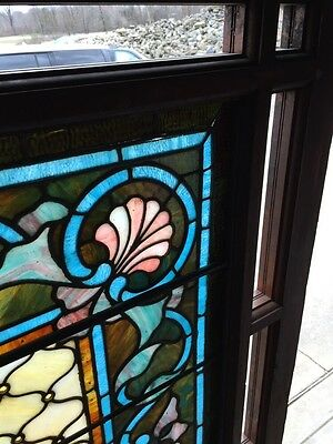 Antique Painters Palette Stainglass Window With Many Jewels 6