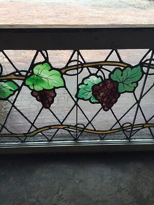 Sg 748 Antique Grape Vine Window With Painted Grapes 3