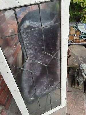 "Sg 829 Antique Leaded Glass Window 20"" X 50"""