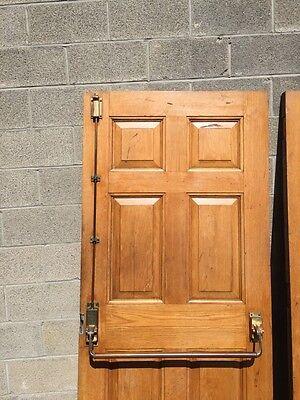 Cm 22 One Pair Antique Very Heavy Raise Panel Oak Entrance Doors 9