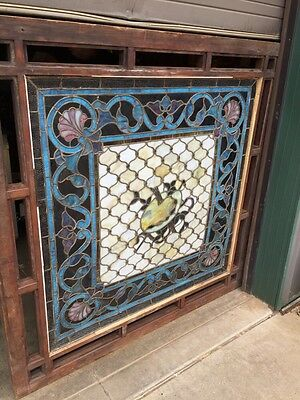 Antique Painters Palette Stainglass Window With Many Jewels 12