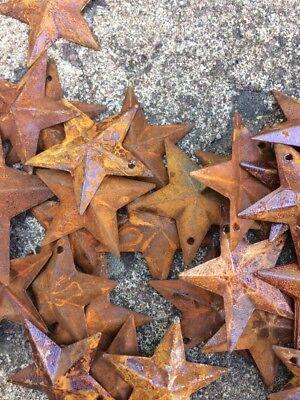 "Set 20  Rusty Stars 10- 2.25"" & 10- 1.5"" Country Metal Barn Star Craft Supplies 7"