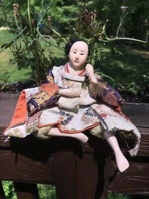 Antique Japanese Musha Ningyo Warrior Doll Boy's Day Festival Yoshitune Meiji 3