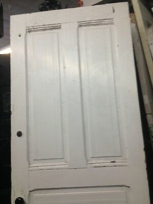 "Victorian Front Door With Original Hardware 83""x34""wood 12"