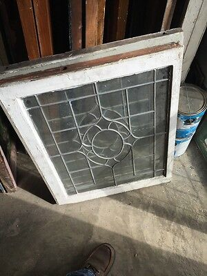 Sg 655 Three Available Price Each Antique Portable Windows Leaded Glass 7
