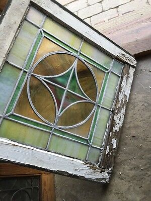 "Sg 593 Antique 20"" X 20"" Pastel Stainglass Window 6"