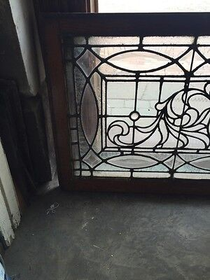 "Sg 749 Antique Transom Window 22"" X 42.25"" Beautiful 2"