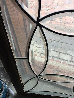 Sg 538 All Beveled Glass Transom Window Antique